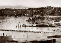 Tiburon Ferry and overlook c1900
