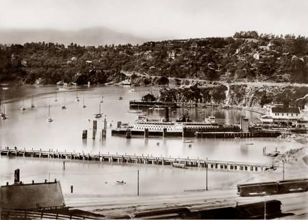 Tiburon Ferry and overlook c1900