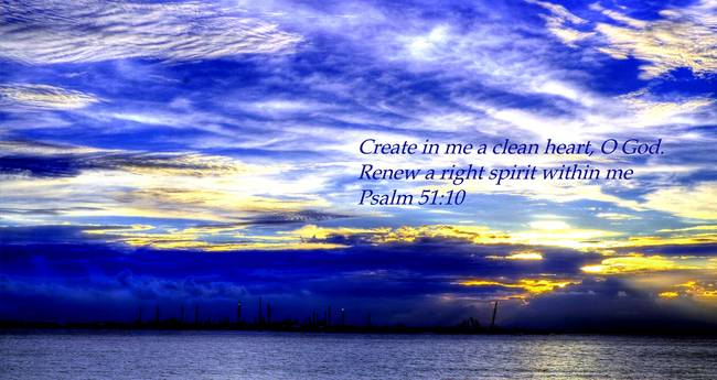 Create in me... - Picture verse 1