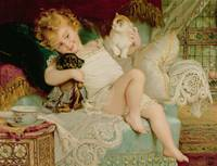 Playmates, from the Pears Annual by Emile Munier