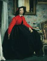 Young Lady in a Red Jacket by Tissot