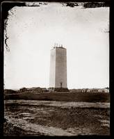 Washington Monument under construction c1860 by WorldWide Archive
