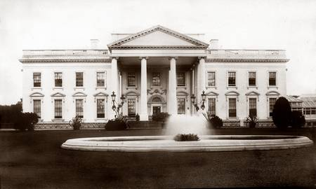 White House, front view c1900