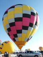 Hot air ballon before take off