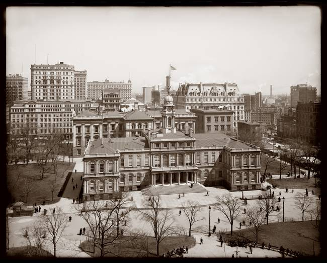 City Hall, New york City c1900