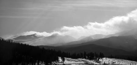 Tenmile Range Clouds (Black and White)