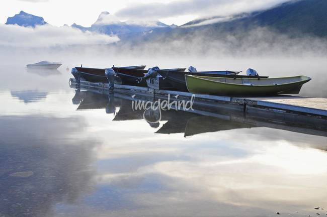 Dawn mists at Lake McDonald