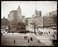 City Hall and Park, New York City c1905 by WorldWide Archive