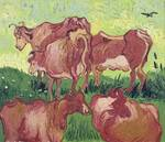 Cows by Vincent van Gogh