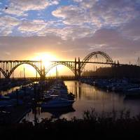 Newport Marina - Oregon by John Tribolet