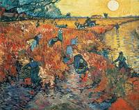 Red Vineyards at Arles by Vincent van Gogh