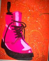 Pop Art Pink Doc Marten