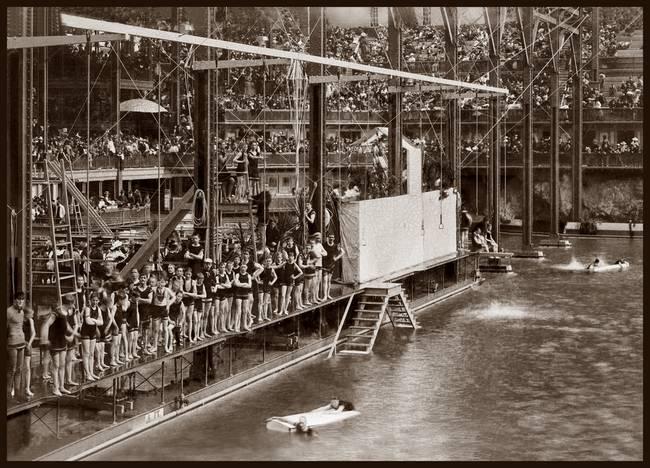 Sutro Bathes Interior c1890