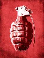 Hand Grenade on Red