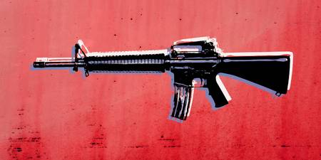 M16 Assault Rifle on Red