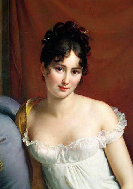 Portrait of Madame Recamier )detail( by Gerard