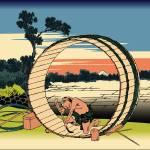 Hokusai Fuji View Field in Owari Province by Leo KL