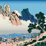 Hokusai The back of Fuji from the Minobu river by Leo KL