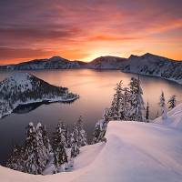 Crater Lake Oregon by John Tribolet