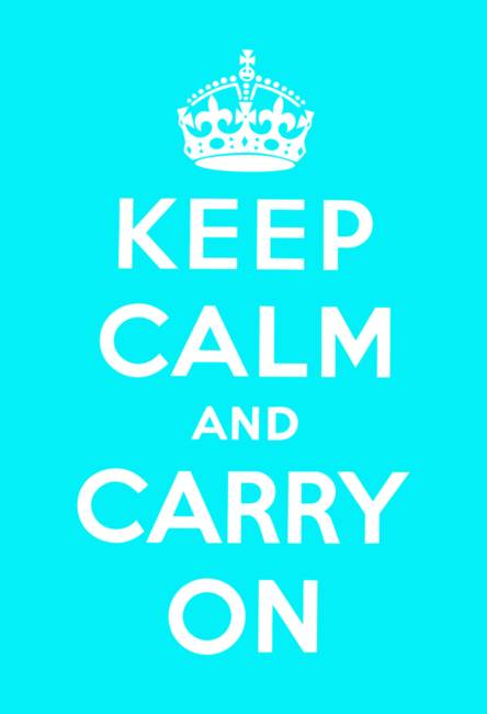 Blue Keep Calm And Carry On
