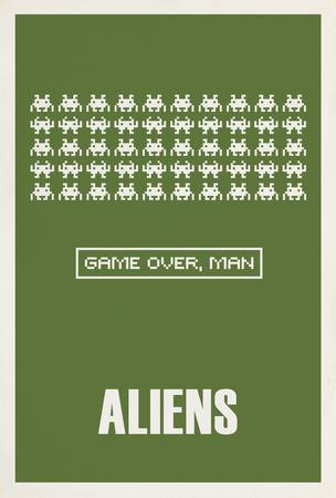 Aliens Minimalist Movie Posters