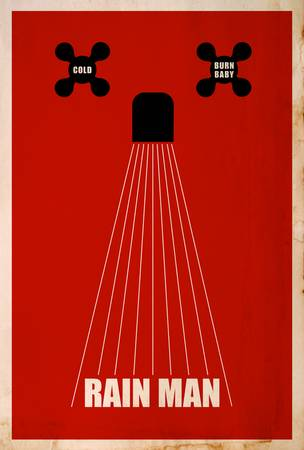Rain Man Minimalist Movie Posters