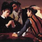 Caravaggio The Cardsharps by Leo KL