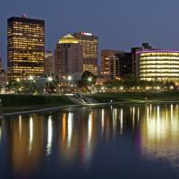 Dayton Skyline Early Evening August 2010 by Jim Crotty