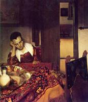 A Woman Asleep by Vermeer
