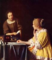 Mistress and maid by Vermeer