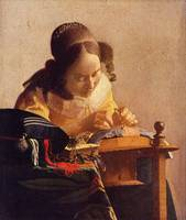 The Lacemaker  by Vermeer