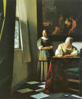Woman with Messenger by Vermeer