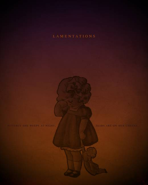 Word: Lamentations Books of the Bible Posters