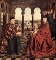 Madonna and Chancellor Nicholas Rolin by Van Eyck