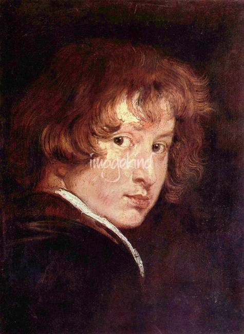 Youthful self-portrait by Anthony van Dyck