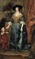 Portrait of Queen Henrietta Maria, with a Dwarf