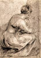 Sitting Girl by Peter Paul Rubens