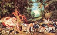 Satyrs and Hounds by Peter Paul Rubens