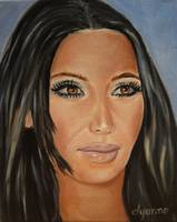 Kim Kardashian Celebrity Painting