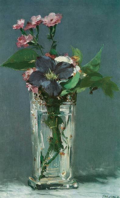 Manet Flowers in a Crystal Vase