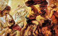 Overthrow of the Titans by Peter Paul Rubens