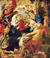Madonna with Saints by Peter Paul Rubens