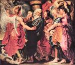 Lot with His Family to Leave Sodom by Paul Rubens