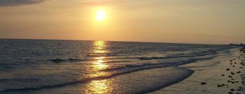 Panoramic Beach Sunset