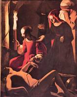 Lamentation of St. Sebastian by Irene by La Tour