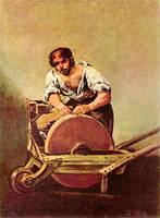The Grinder by Francisco Goya