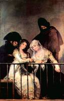 Majas on a Balcony by Francisco Goya