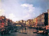 The Rialto Bridge from the South by Canaletto