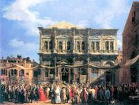 The Festival Rochus by Canaletto