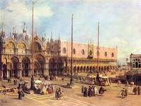 La Piazza San Marco by Canaletto
